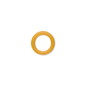 Soldered Closed Jump Rings Rubber Yellows