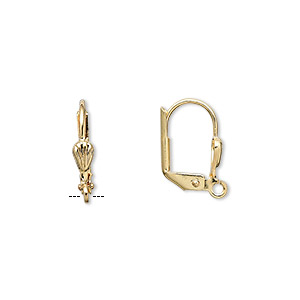 Leverback earring findings Gold Plated/Finished Gold Colored