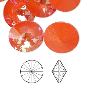 Point-Back Swarovski Oranges / Peaches
