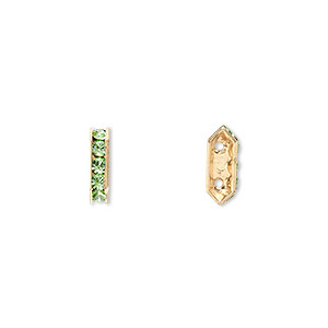 Spacer Bars Swarovski Peridot