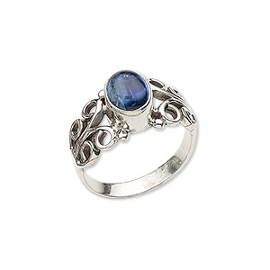 Finger Rings Kyanite Silver Colored