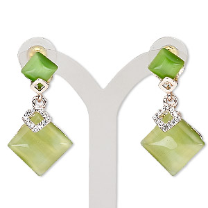 Earstud Earrings Greens Everyday Jewelry