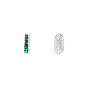 Spacer Bars Swarovski Emerald