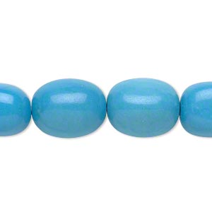 Bead, Magnesite (dyed / Stabilized), Blue, Small Tumbled Nugget, Mohs Hardness 5 6. Sold Per 16-inch Strand