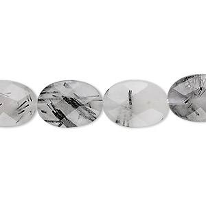 Beads Grade B Tourmalinated Quartz