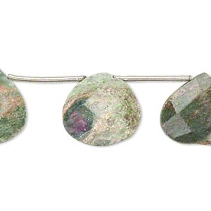 Beads Grade B ruby in fuchsite