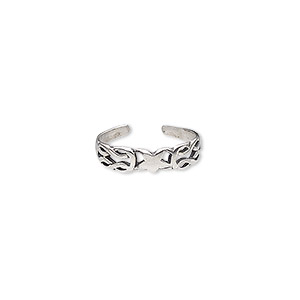 Toe Rings Sterling Silver Silver Colored
