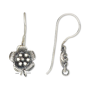 Hook Earwires Fine Silver Silver Colored