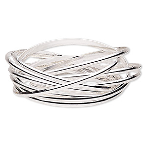 Bangles Silver Plated/Finished Silver Colored