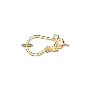 Hook and Eye Sterling Silver Gold Colored