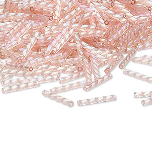 Bugle Beads Glass Pinks