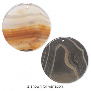 Focal, Red Agate (dyed / Heated), 48-52mm Flat Round, B- Grade, Mohs Hardness 6-1/2 7. Sold Individually