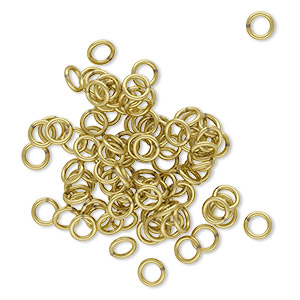 Soldered Closed Jump Rings Brass Gold Colored