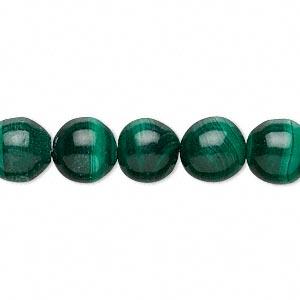Bead, Malachite (natural), Light Dark Green, 10mm Irregular Round, C/D Grade. Sold Per 16-inch Strand