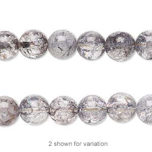 Beads Grade B Ice Flake Quartz