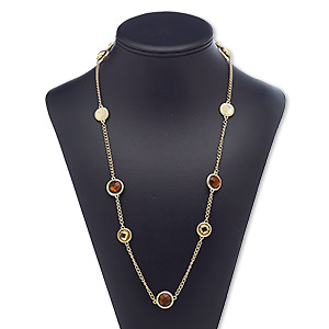 Other Necklace Styles Gold Plated/Finished Browns / Tans