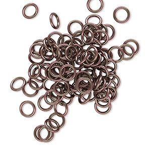 Open Jump Rings Aluminum Browns / Tans
