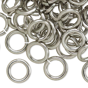 Open Jump Rings Aluminum Greys