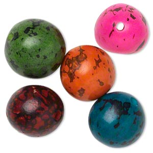 Beads Tagua Nut Mixed Colors