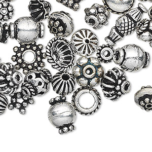 Beads Silver Plated/Finished Silver Colored
