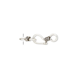 Hook and Eye Sterling Silver Silver Colored