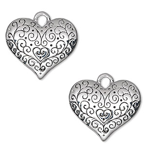 Charms Silver Plated/Finished Silver Colored