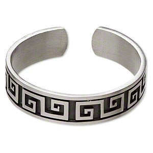 Cuff Bracelets Pewter Silver Colored