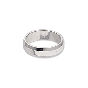 Finger Rings Stainless Steel Silver Colored