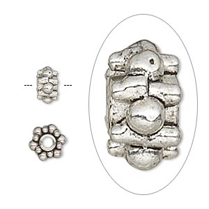 Spacer Beads Silver Plated/Finished Silver Colored