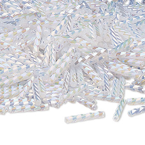 Bugle Beads Glass Whites