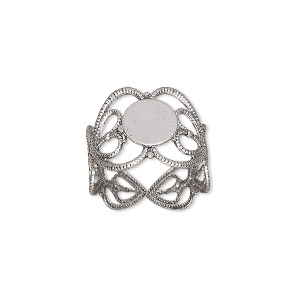 Ring Bases Silver Plated/Finished H20-9374FX