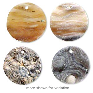 Drop, Druzy Agate (natural), 24-25mm Flat Round, Mohs Hardness 6-1/2 7. Sold Individually