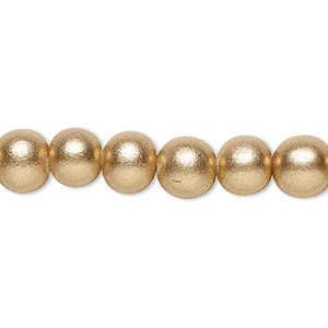 Beads Taiwanese Cheesewood Gold Colored