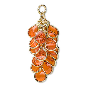 Drops Gold Plated/Finished Oranges / Peaches