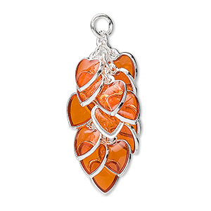 Drops Silver Plated/Finished Oranges / Peaches