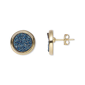 Earstud Earrings Gold Plated/Finished Blues