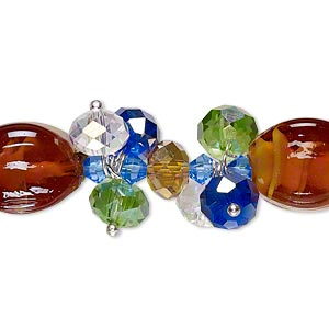 Lampwork Glass Mixed Colors Mixed Shapes