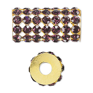Beads Gold Plated/Finished Purples / Lavenders