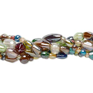 Beads Mixed Glass Multi-colored