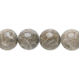 Beads Grade B Fossil Coral