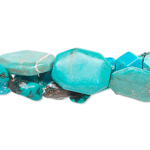 Bead Mix, Magnesite Chalk Turquoise (dyed / Stabilized), Mixed Colors, 8mm-40x30mm Mixed Shape, D- Grade, Mohs Hardness 3-1/2 4. Sold Per Pkg (3) 16-inch Strands