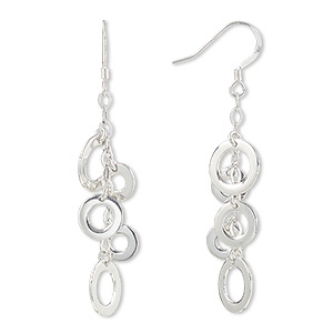Fishhook Earrings Sterling Silver Silver Colored