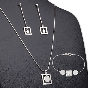 Jewelry Sets Sterling Silver Silver Colored