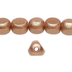Beads Taiwanese Cheesewood Copper Colored