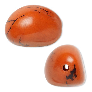 Beads Tagua Nut Oranges / Peaches