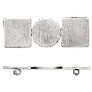 Spacer Bars Silver Plated/Finished Silver Colored