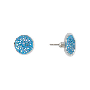 Earstud Earrings Stainless Steel Blues