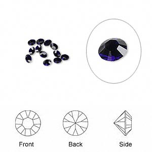Point-Back Swarovski Dark Indigo
