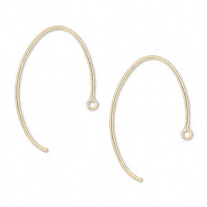 Hook Ear Wire Findings Gold-Filled Gold Colored