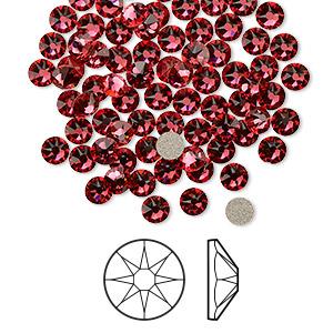 Flat-Back Swarovski Indian Pink